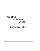 Appletree Behaviour policy ( including monitoring of incidents and biting and scratching policy)