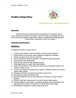 Healthy Eating Policy